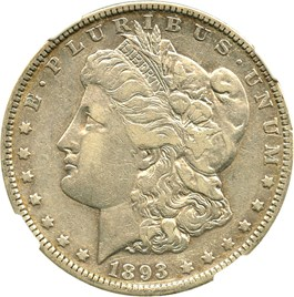 Image of 1893 $1 NGC VF30