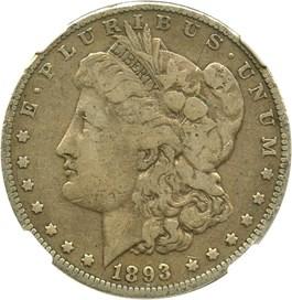 Image of 1893 $1 NGC VG-08