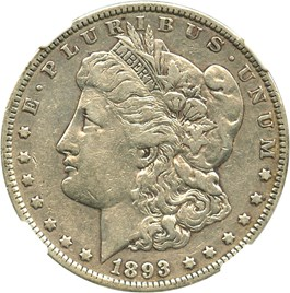 Image of 1893 $1 NGC VF25