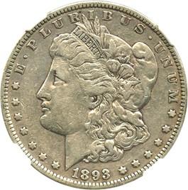Image of 1893 $1 NGC VF25