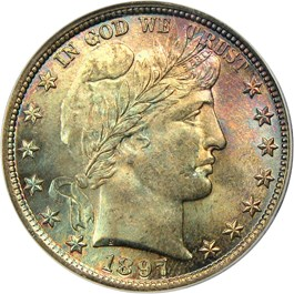 Image of 1897 50c PCGS/CAC MS66