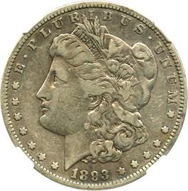 Image of 1893 $1 NGC F15