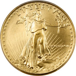 Image of 1988 Gold Eagle $50 PCGS MS69