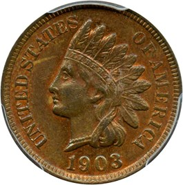 Image of 1903 1c PCGS MS63 RB