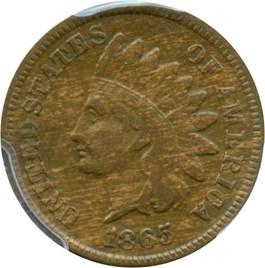 Image of 1865 1c PCGS VF25 (Plain 5)