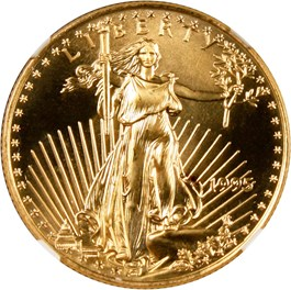 Image of 1995 Gold Eagle $25 NGC MS69