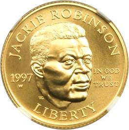 Image of 1997-W Jackie Robinson $5 NGC MS70