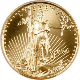Image of 1999 Gold Eagle $10 PCGS MS69