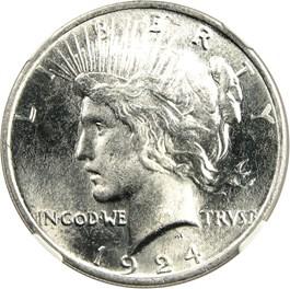 Image of 1924 $1 NGC MS67