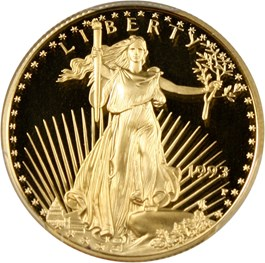 Image of 1993-P Gold Eagle $25 PCGS Proof 69 DCAM