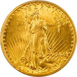 Image of 1909/8 $20 PCGS/CAC AU55