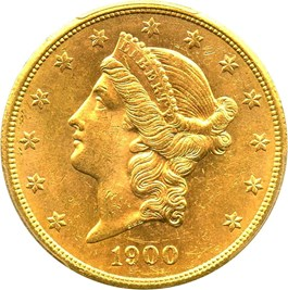 Image of 1900-S $20 PCGS MS63