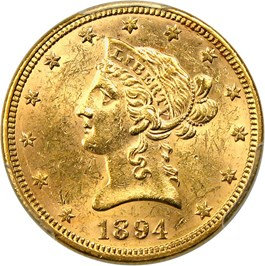 Image of 1894 $10 PCGS MS61