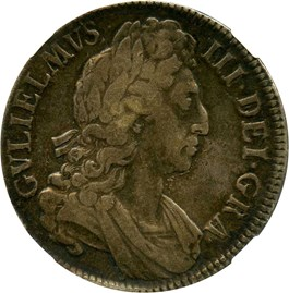 Image of Great Britain: 1696 Crown NGC VF25 (ESC-89)