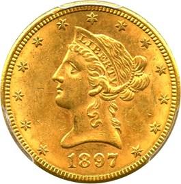 Image of 1897-S $10 PCGS MS62