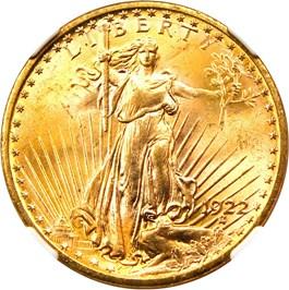Image of 1922 $20 NGC MS65