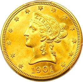 Image of 1901-O $10 PCGS MS63