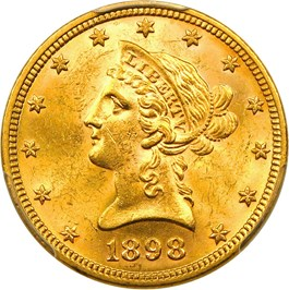 Image of 1898 $10 PCGS MS63