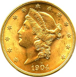 Image of 1904-S $20 PCGS MS63