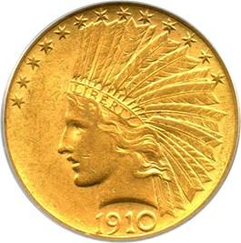Image of 1910 $10 PCGS AU55