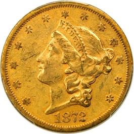 Image of 1872-S $20 PCGS/CAC AU50