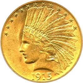 Image of 1915 $10 PCGS AU58