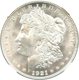 Image of 1921-D $1 NGC MS65