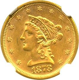 Image of 1878-S $2 1/2 NGC MS62+