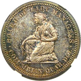Image of 1893 Isabella 25c NGC Proof 64
