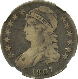 Image of 1807 50c NGC VG-10 (Capped Bust, Large Stars)