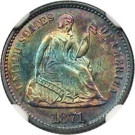 Image of 1871 H10c NGC/CAC MS65+