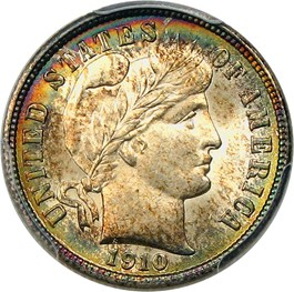 Image of 1910 10c PCGS MS66