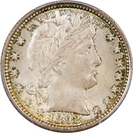 Image of 1892 25c PCGS/CAC MS66