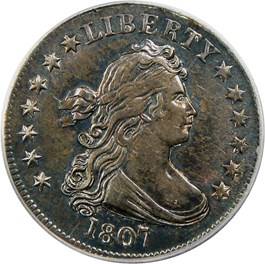 Image of 1807 25c PCGS AU50 - No Reserve!