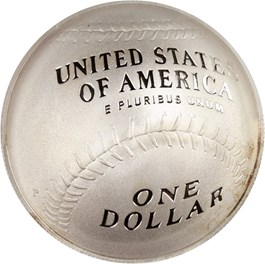 Image of 2014-P Baseball Hall of Fame $1 PCGS Proof 70 DCAM (First Strike, Hank Aaron Signature) - No Reserve!