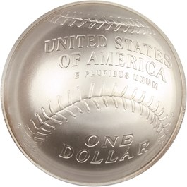 Image of 2014-P Baseball Hall of Fame $1 PCGS MS70 (First Strike, Bob Gibson Signature) - No Reserve!