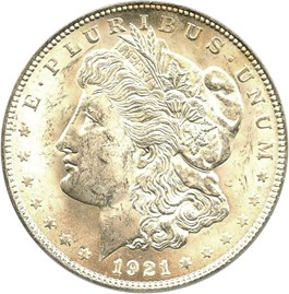 Image of 1921 Morgan $1 PCGS MS63