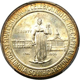 Image of 1936-D Columbia 50c PCGS/CAC MS67