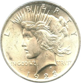 Image of 1923 $1 PCGS MS64