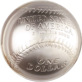 Image of 2014-P Baseball Hall of Fame $1 PCGS MS70 (First Strike, Hank Aaron Signature) - No Reserve!