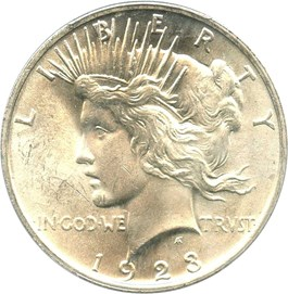 Image of 1923 $1 PCGS MS64