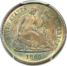 Image of 1860 H10c PCGS/CAC MS67