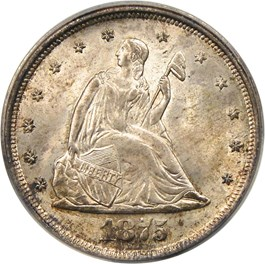 Image of 1875-S 20c PCGS/CAC MS66 (OGH)