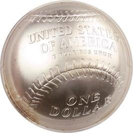 Image of 2014-P Baseball Hall of Fame $1 PCGS MS70 (Ernie Banks Signature) - No Reserve!