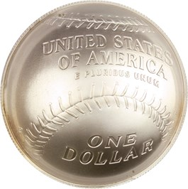 Image of 2014-P Baseball Hall of Fame $1 PCGS MS70 (Johnny Bench Signature) - No Reserve!