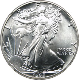 Image of 1988 Silver Eagle $1 NGC MS70
