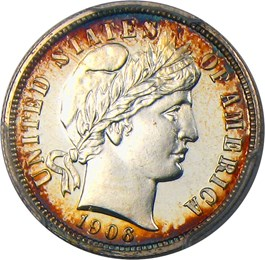Image of 1906 10c PCGS Proof 65