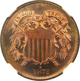 Image of 1872 2c NGC Proof 67 RB