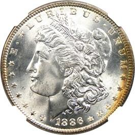 Image of 1886 $1 NGC MS67