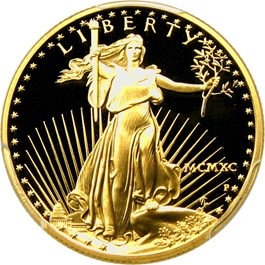 Image of 1990-P Gold Eagle $25 PCGS Proof 69 DCAM